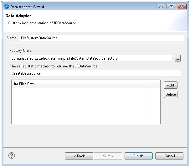 Working with the JRDataSource Interface | Jaspersoft Community