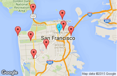 Working With The Map Component Jaspersoft Community - Google maps san francisco