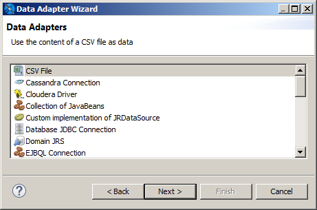 Creating and Editing Data Adapters | Jaspersoft Community
