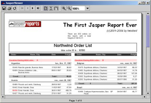 JasperReports Library Screenshot